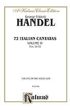 72 Italian Cantatas No. 4-St Sc