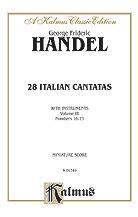 28 Italian Cantatas Vol 3-St Sc