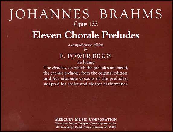 11 Chorale Preludes Op. 122