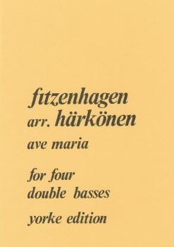 Ave Maria-Double Bass Quartet