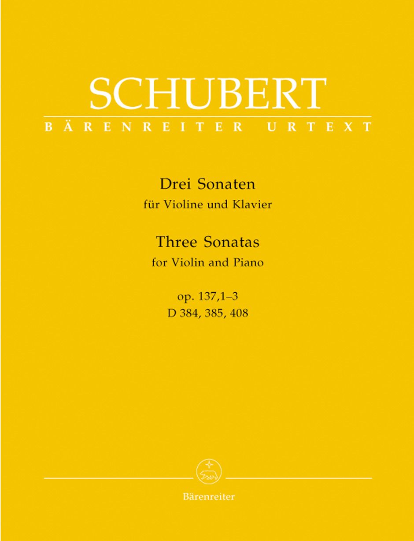 Three Sonatinas for Violin and Piano, Op. 137, Nos. 1-3