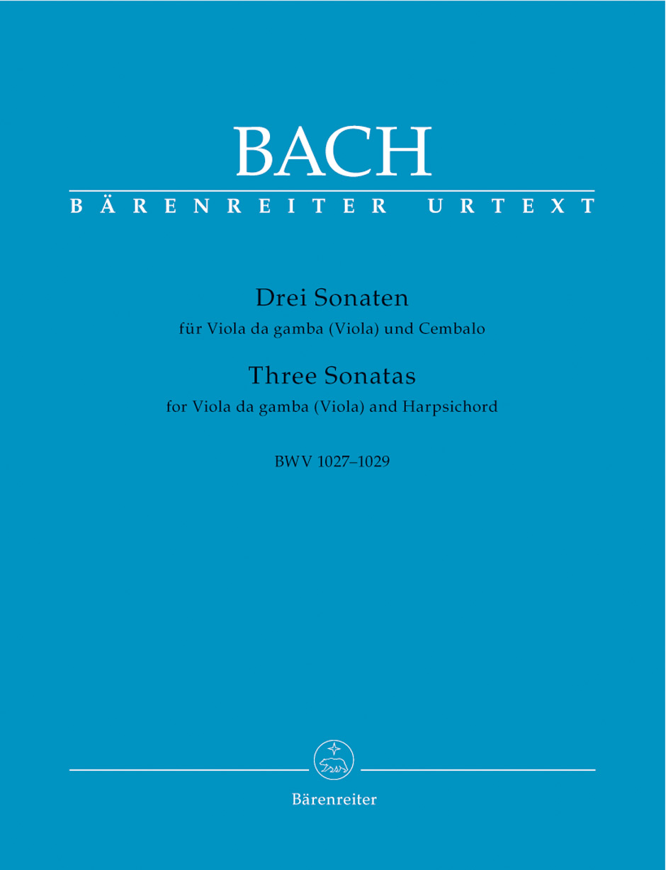 Three Sonatas for Viola Da Gamba or Viola and Harpsichord