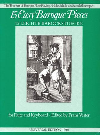 15 Easy Baroque Pieces-Flute/Piano