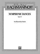 Symphonic Dances Op. 45-2 Pno 4 Hand