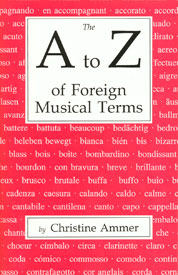 A to Z of Foreign Musical Terms