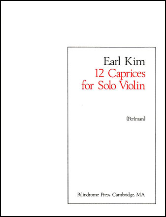 12 Caprices for Solo Violin