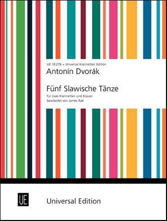 Five Slavonic Dances-Clarinet Duet/Piano