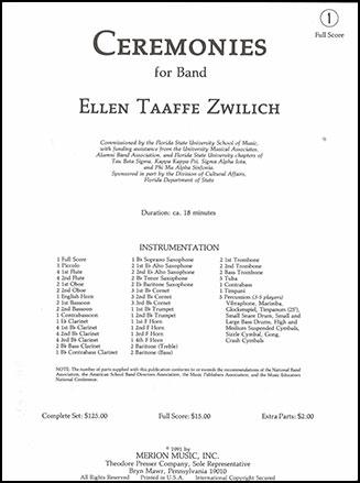 Ceremonies-Concert Band-Study Score