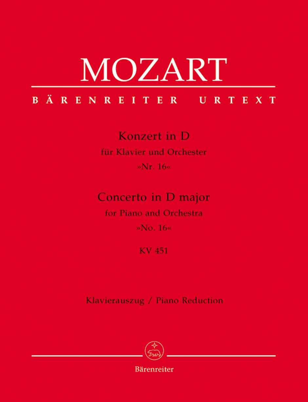 Piano Concerto No. 16 K. 451-Score Thumbnail