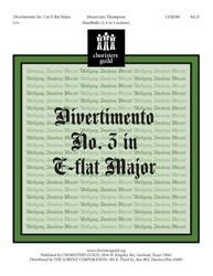 Divertimento No. 3 in E-Flat Major, K. 166