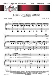 Rejoice Give Thanks and Sing