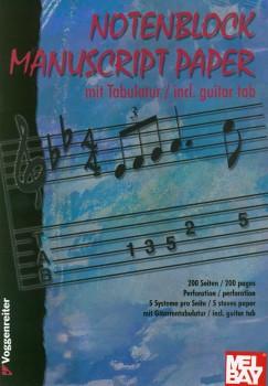 Notenblock Mit Tab-Manuscript W/Tab