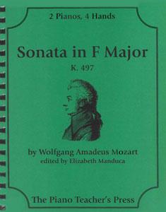Sonata in F Min, K 497-2 Pno 4 Hand