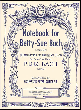 Notebook for Betty Sue Bach