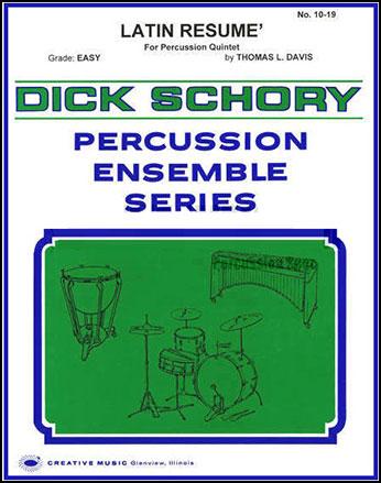 latin resume percussion quintet expand j w pepper sheet music