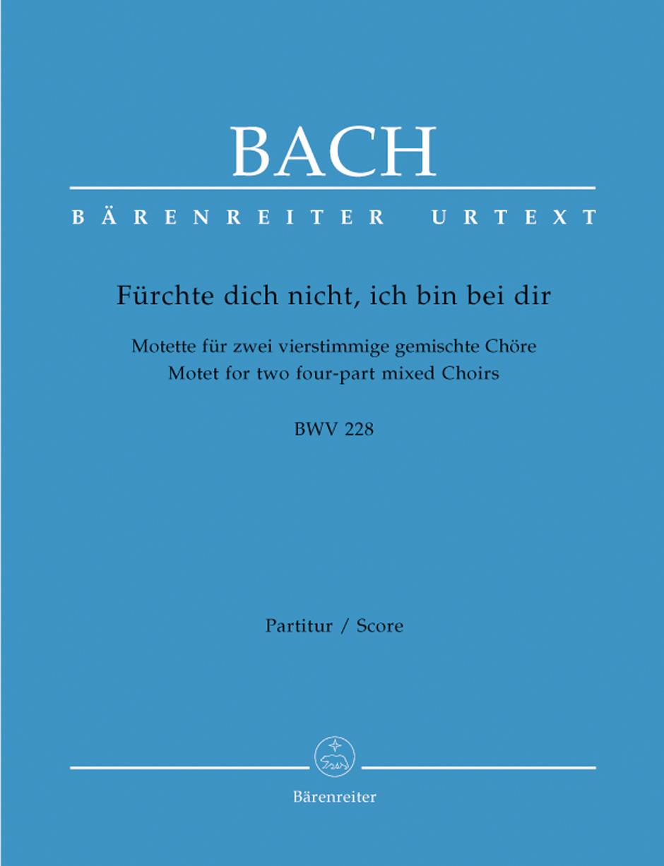 Bach Furchte Dich Nicht Ich