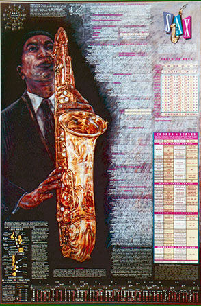 SAX POSTER LAMINATED - (24