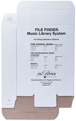 Music Filing Boxes: March Size
