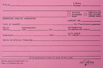 Library Filing Cards Cover