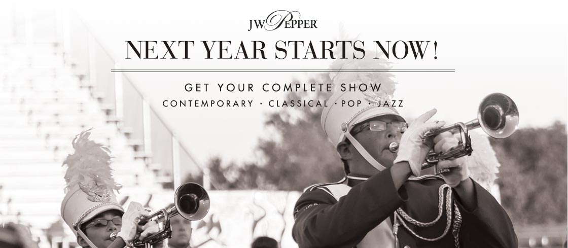Next year starts now! Shop marching band complete shows.