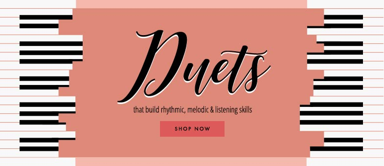 Piano duets to build rhythmic, melodic, and listening skills.