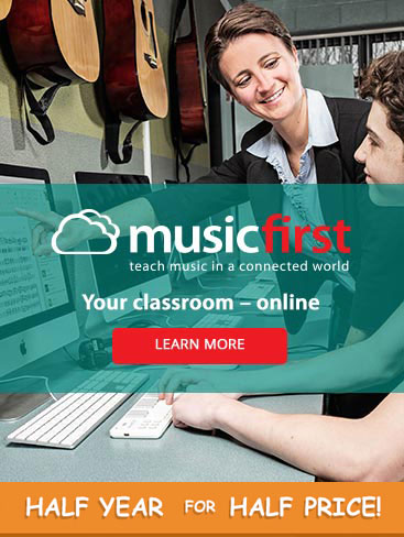 Teach music in a connected world with musicfirst. Your classroom - online.