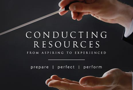 Browse conducting resource books for the aspiring to experienced conductor.