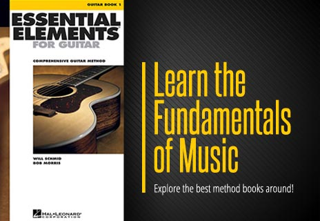 Guitar method books for learning how to play.