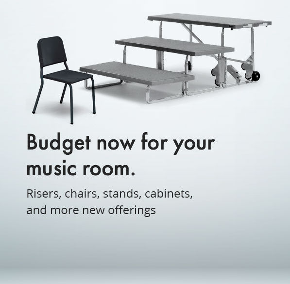Browse risers, chairs, stands, cabinets and more for your music classroom.