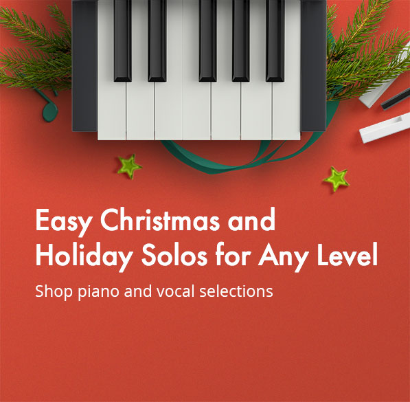 Shop now for easy Christmas selections for piano and vocal!