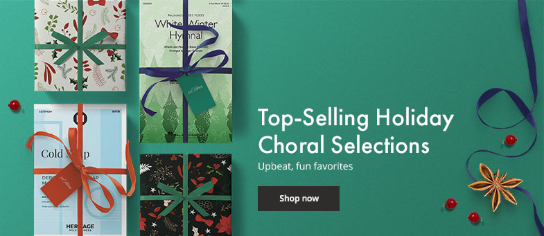 Shop top selling holiday choral music for fun upbeat favorites.