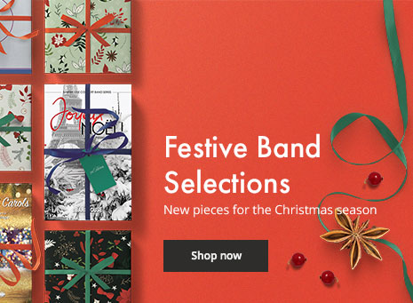 Browse festive new concert band music for Christmas.
