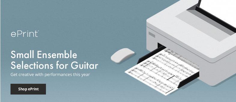 Shop small ensemble digital sheet music for guitar.