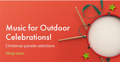 Shop Christmas parade music for outdoor celebrations!