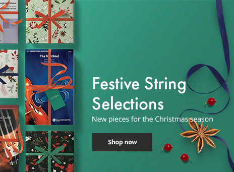 Shop new Christmas music for string orchestra.