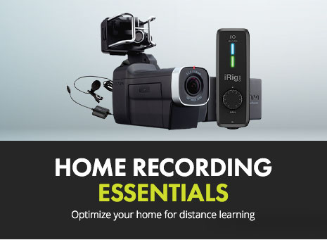 Browse home recording pro audio solutions and optimize your home for distance learning or teaching.