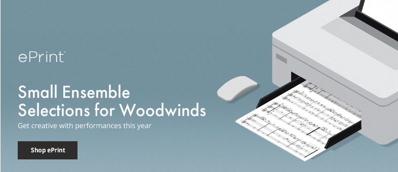 Shop small ensemble digital sheet music for woodwinds.