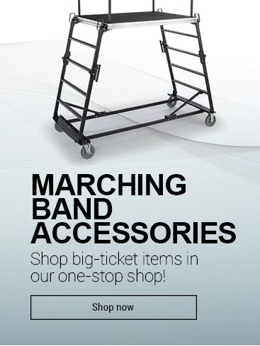 Shop marching band accessories and big ticket items.