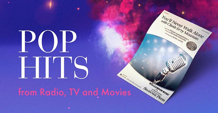 Shop pop hits for choirs from radio, TV and movies!