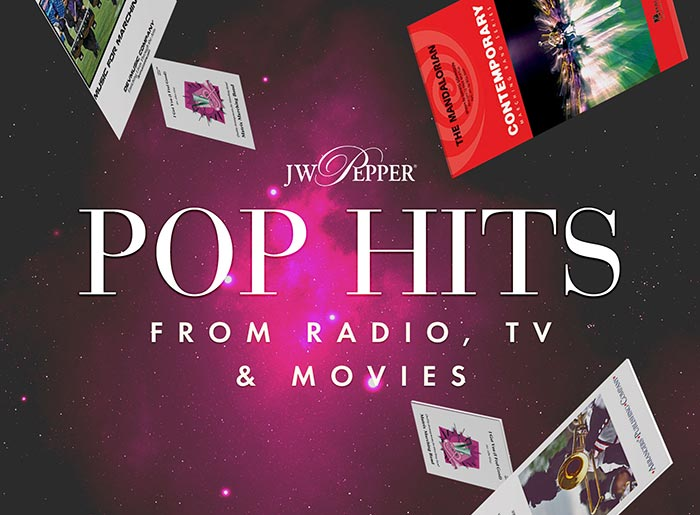 Shop pop hits for marching and pep band from radio, TV and movies!