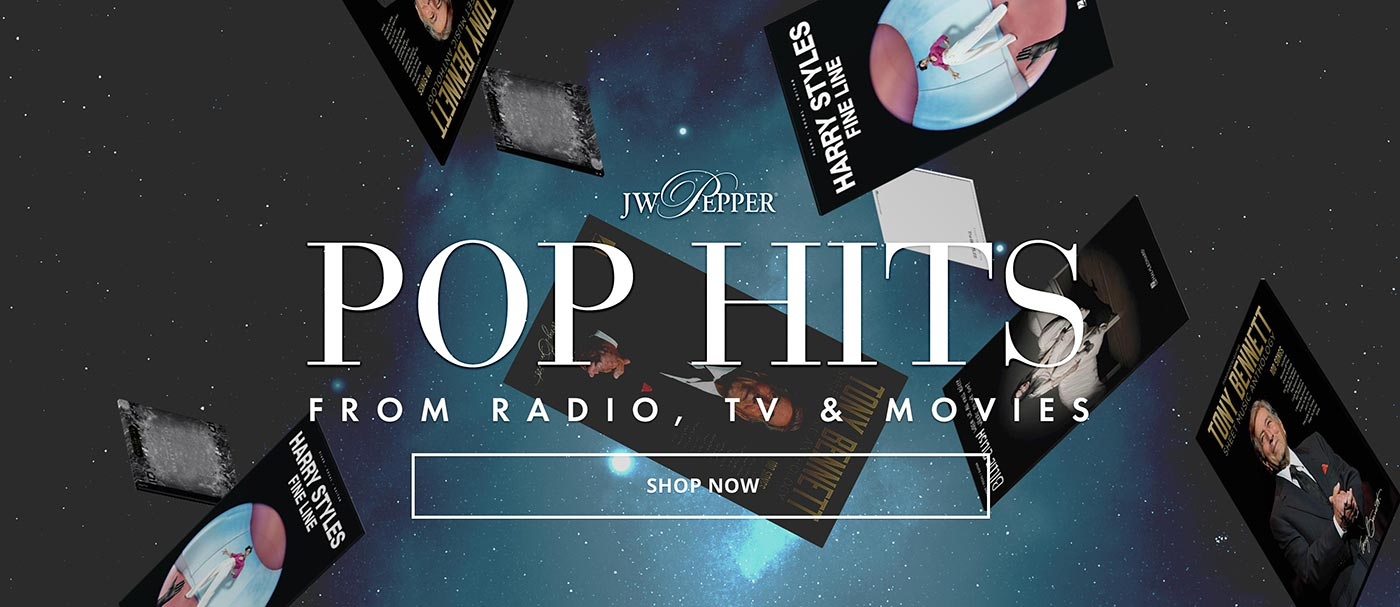 Shop pop hits for vocalists from radio, TV and movies!