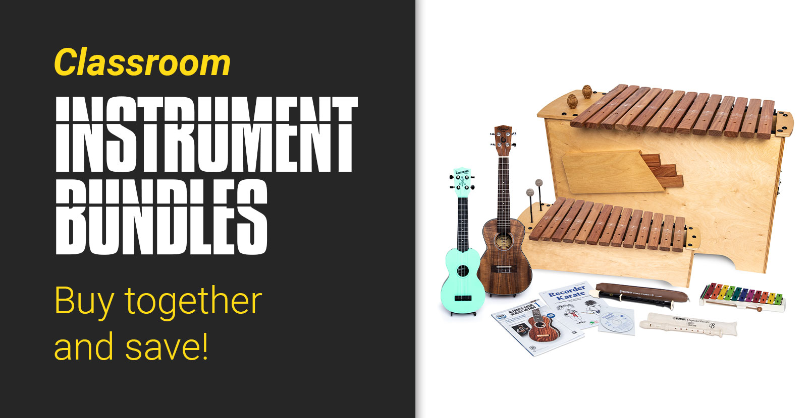 Classroom instrument bundles; buy together and save!