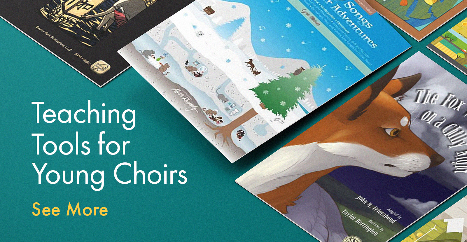 Shop song collections for young choirs.