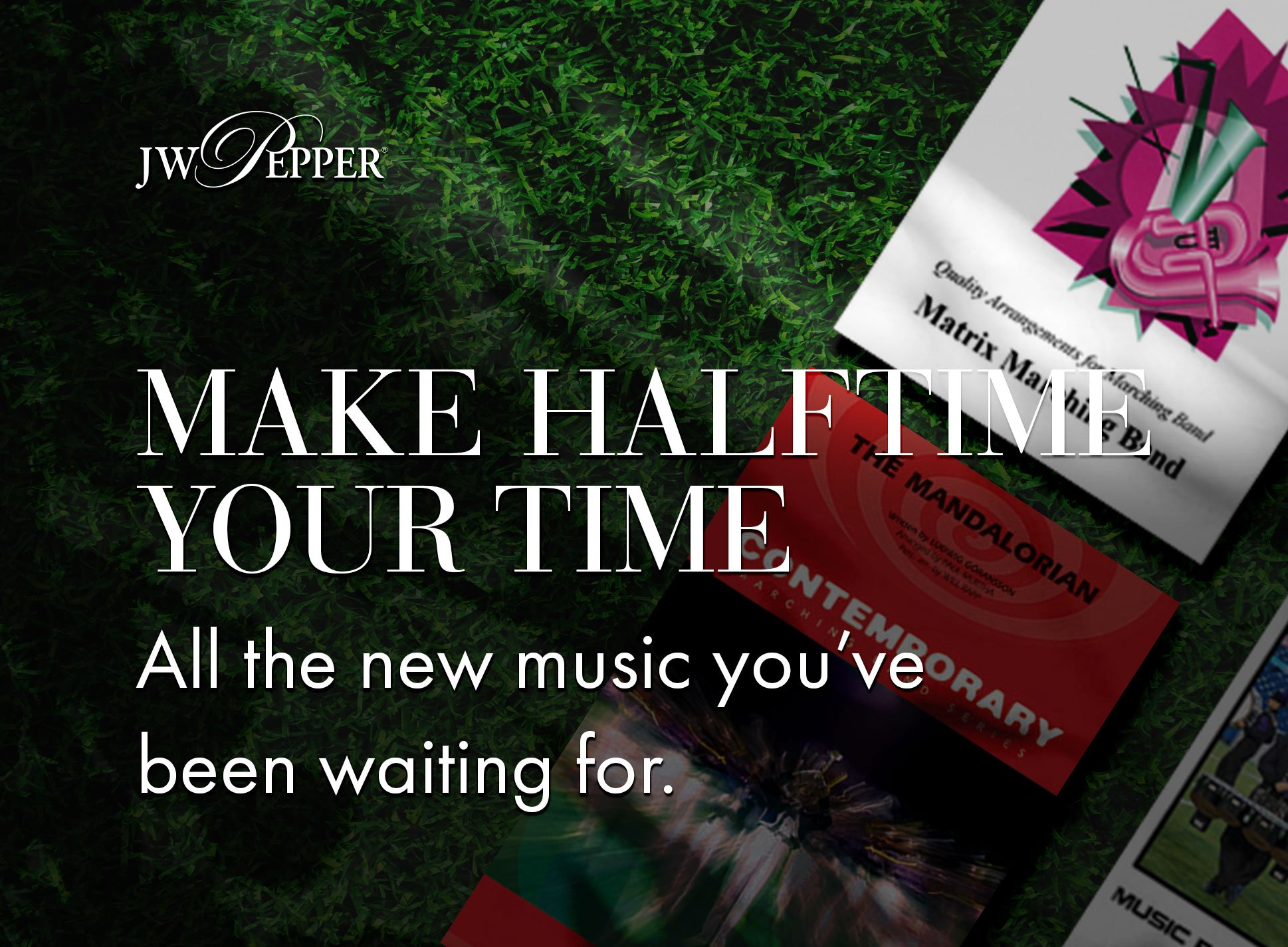 Make halftime your time! All the new marching band music you've been waiting for.