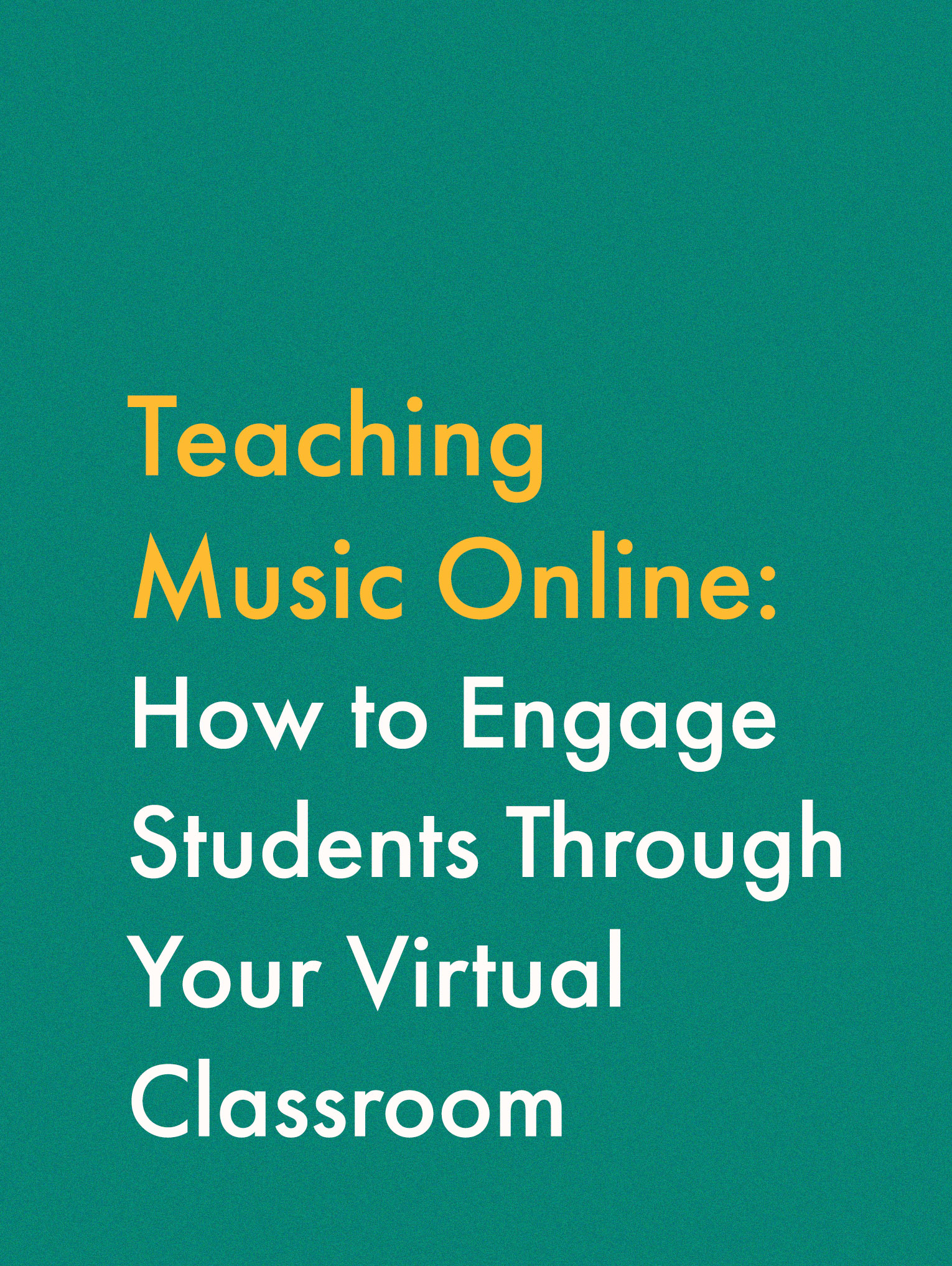 Find the best resources for teaching music online.