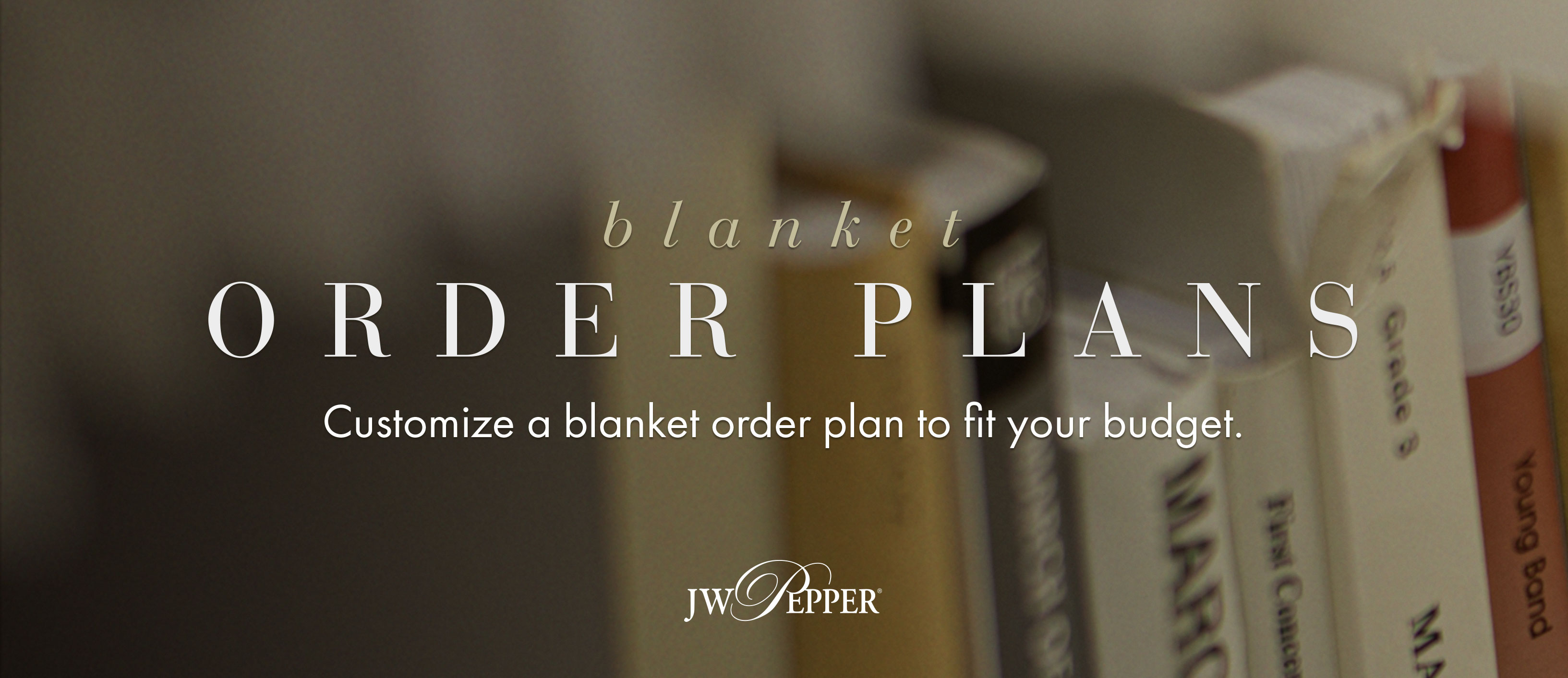 Customize a blanket order plan to fit your library budget.