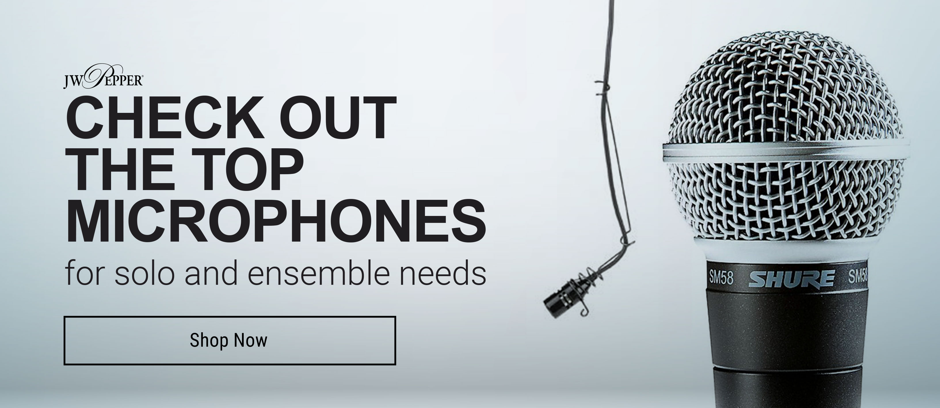 Shop now for the best microphones for solo and ensemble music needs.