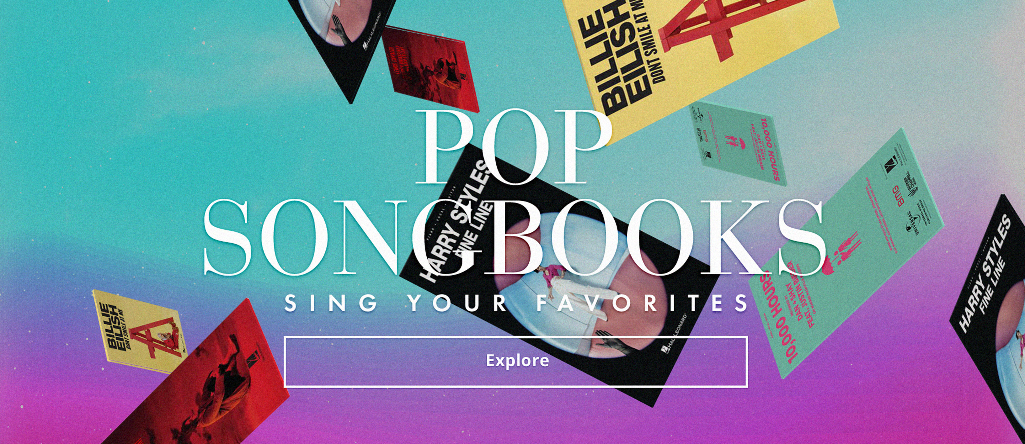 Shop pop vocal songbooks and sing your favorites!