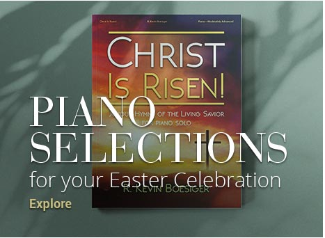Shop Easter piano sheet music for your celebration.
