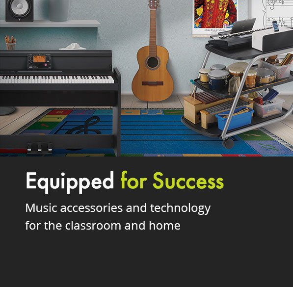 Music accessories and technology for the classroom and home.